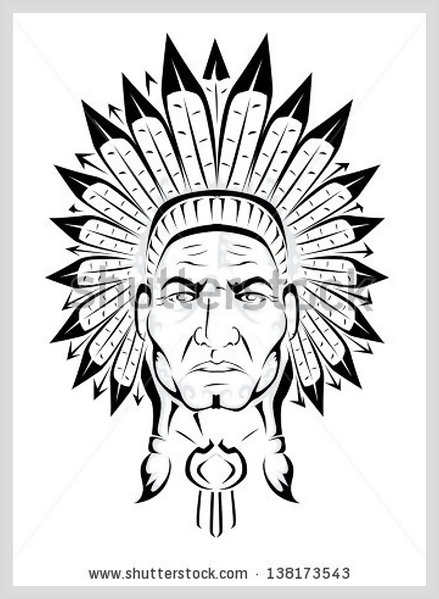 439x599 American Indian Chief Leannaparks Tattoo