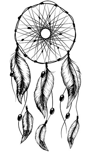 299x500 Dreamcatcher Tattoos For Girls Native American Tattoo Photo
