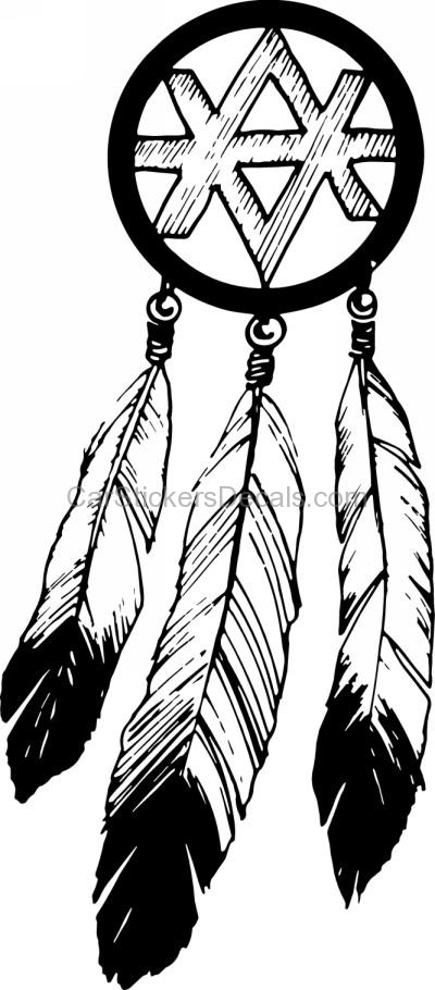 400x910 Native American Dreamcatcher Sticker 5 Amp Decal