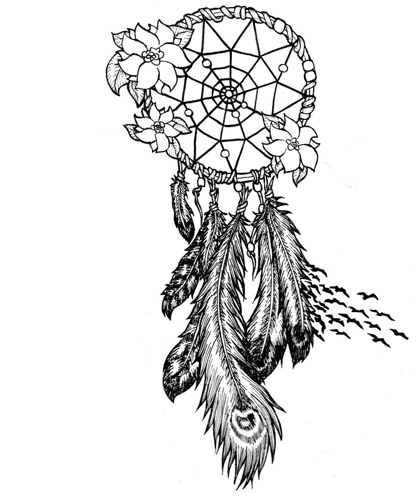 813x983 Native American Dreamcatcher Tattoos Native American Dream Catcher
