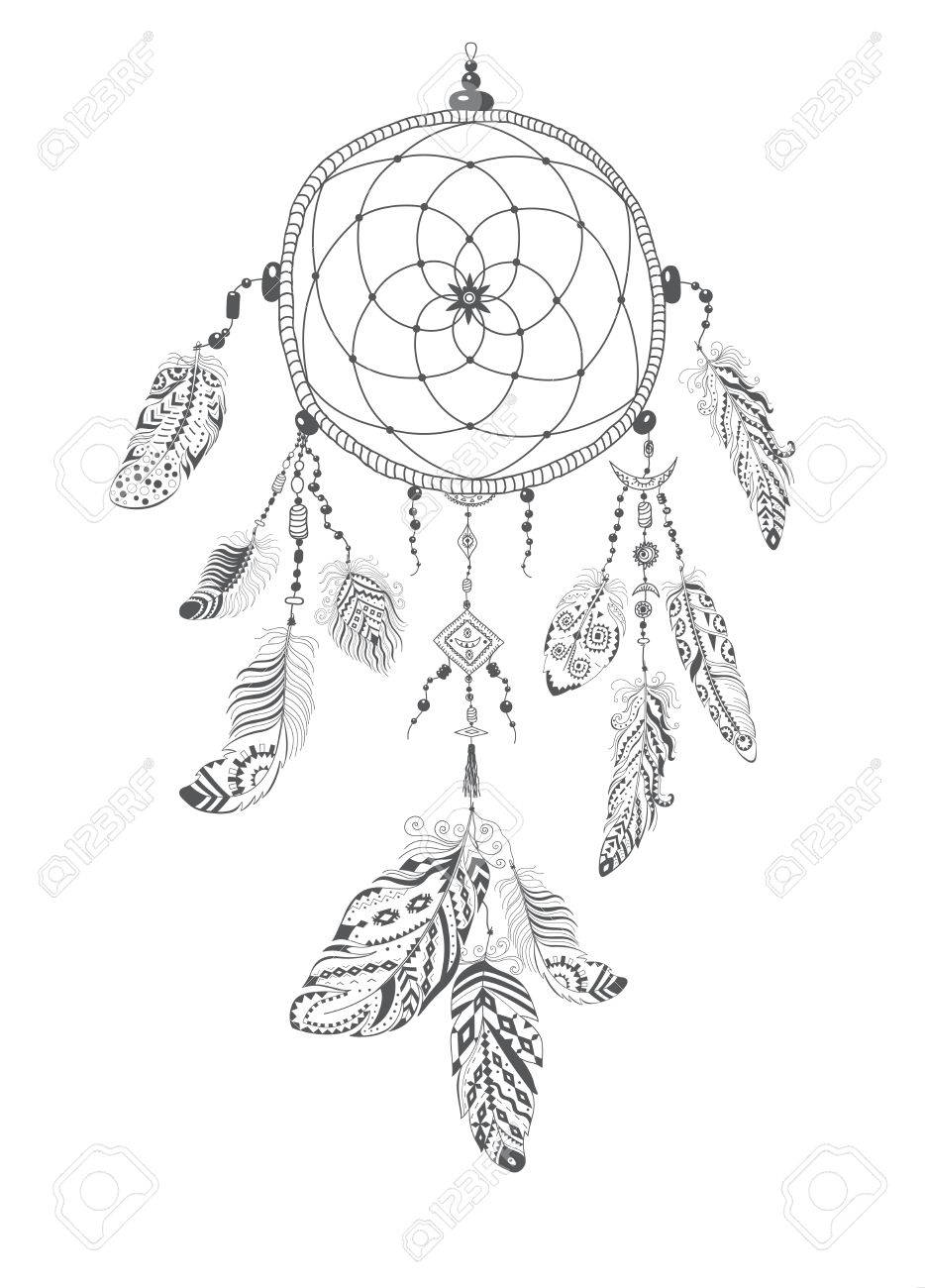 934x1300 Native American Indian Talisman Dream Catcher With Feathers
