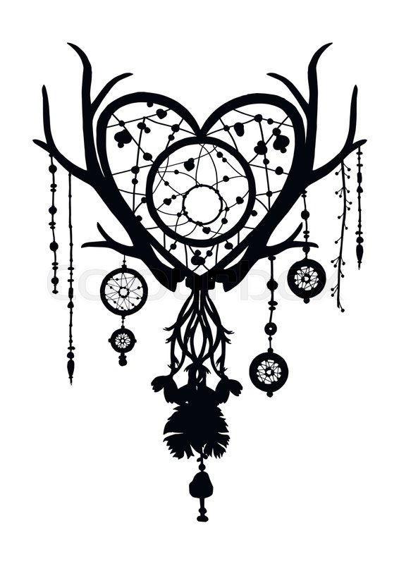 566x800 Native American Ethnic Dreamcatcher Silhouette With Beads