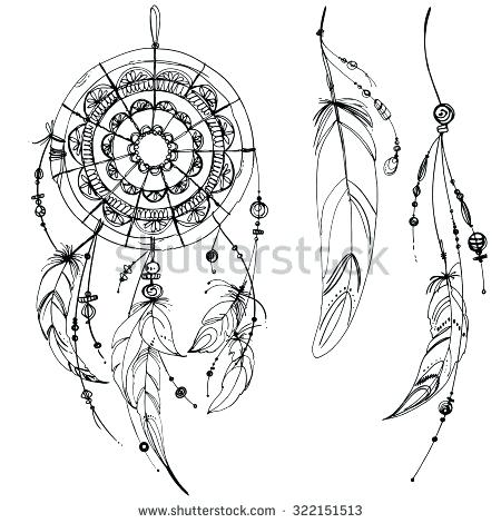 450x470 Wonderful Native American Dreamcatcher Coloring Pages Photos