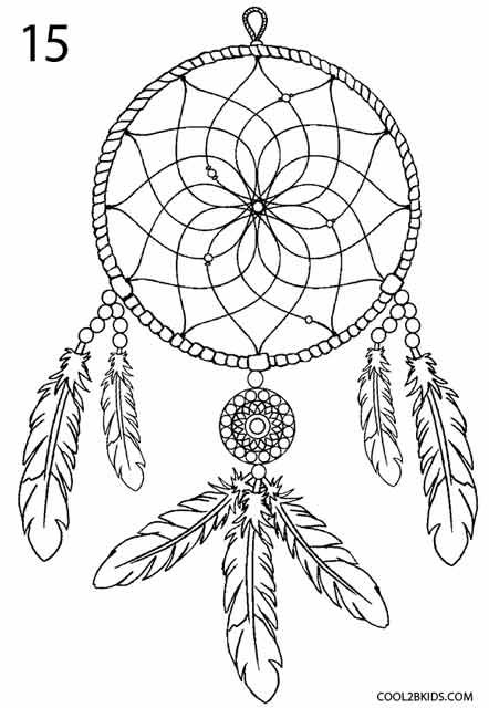 442x640 Drawn Dreamcatcher Printable