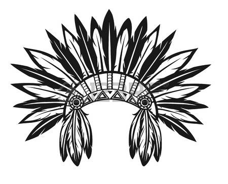 450x364 Indian Headdress Clipart