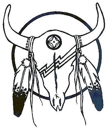 358x428 Native American Drawing Native Skull By Media