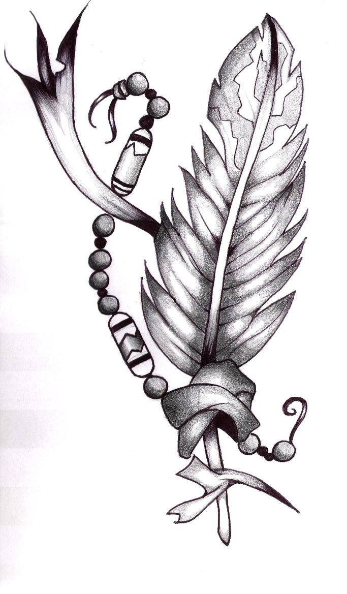 683x1169 Native American Eagle Feather Drawings The Native American Eagle
