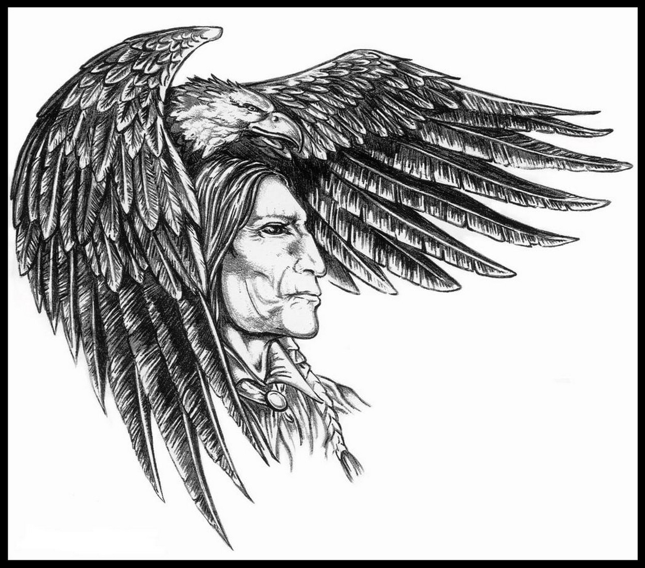 1259x1108 Native American Feathers Tattoos Native American With Feathers