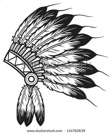 391x470 Native American Indian Chief Headdress Tattoo Work