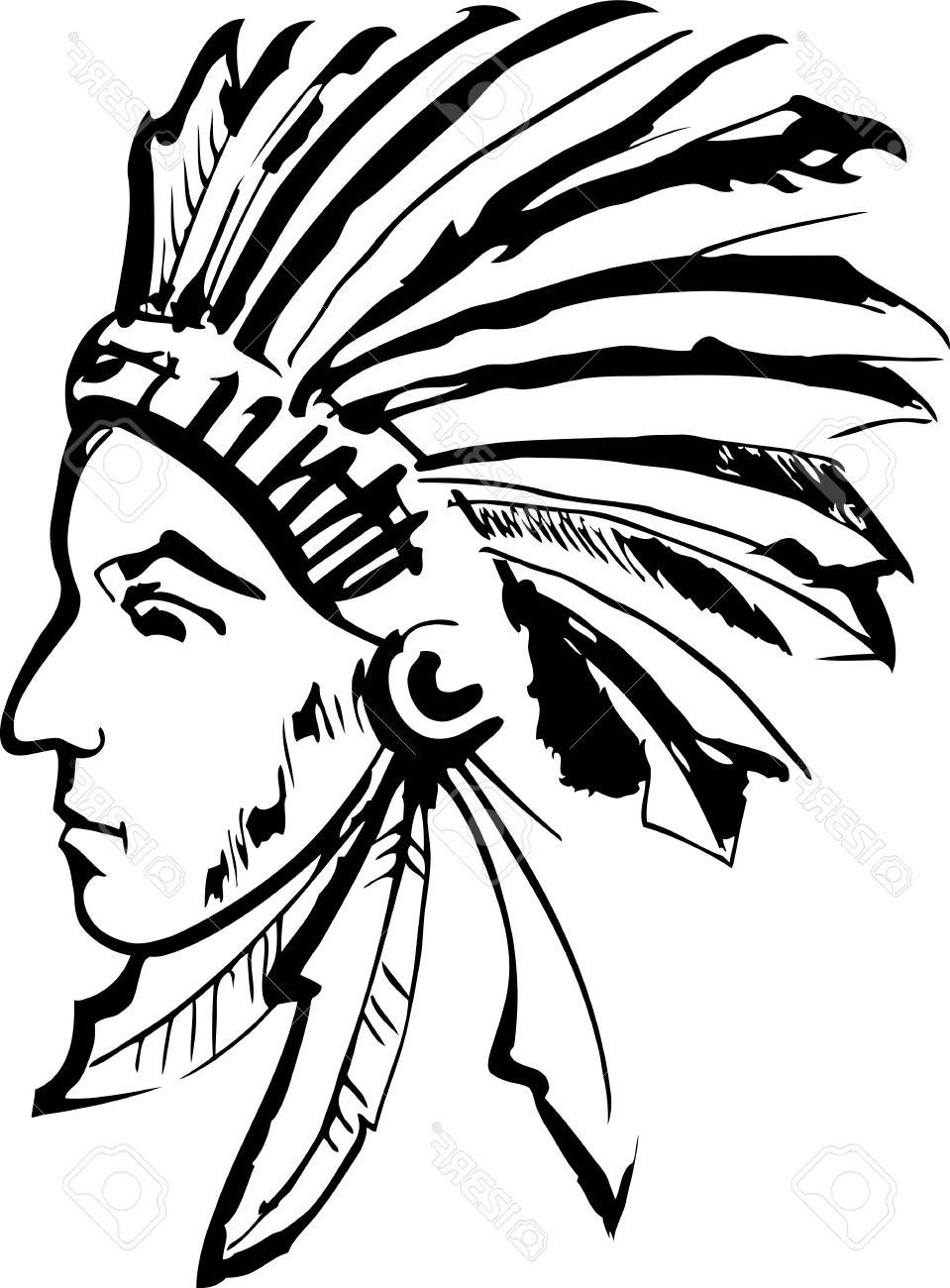 959x1300 Top Native American Indian Chief Stock Vector Cdr