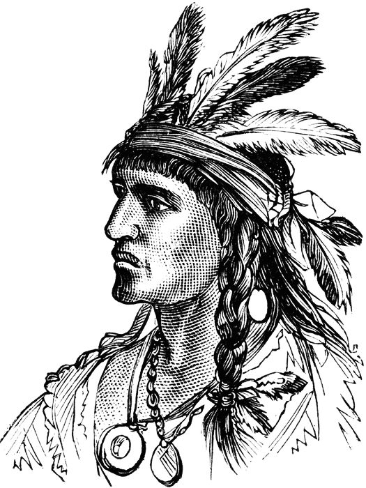 Native American Girl Drawing
