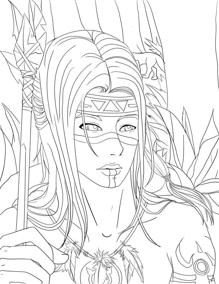 Native American Girl Drawing at GetDrawings Free download