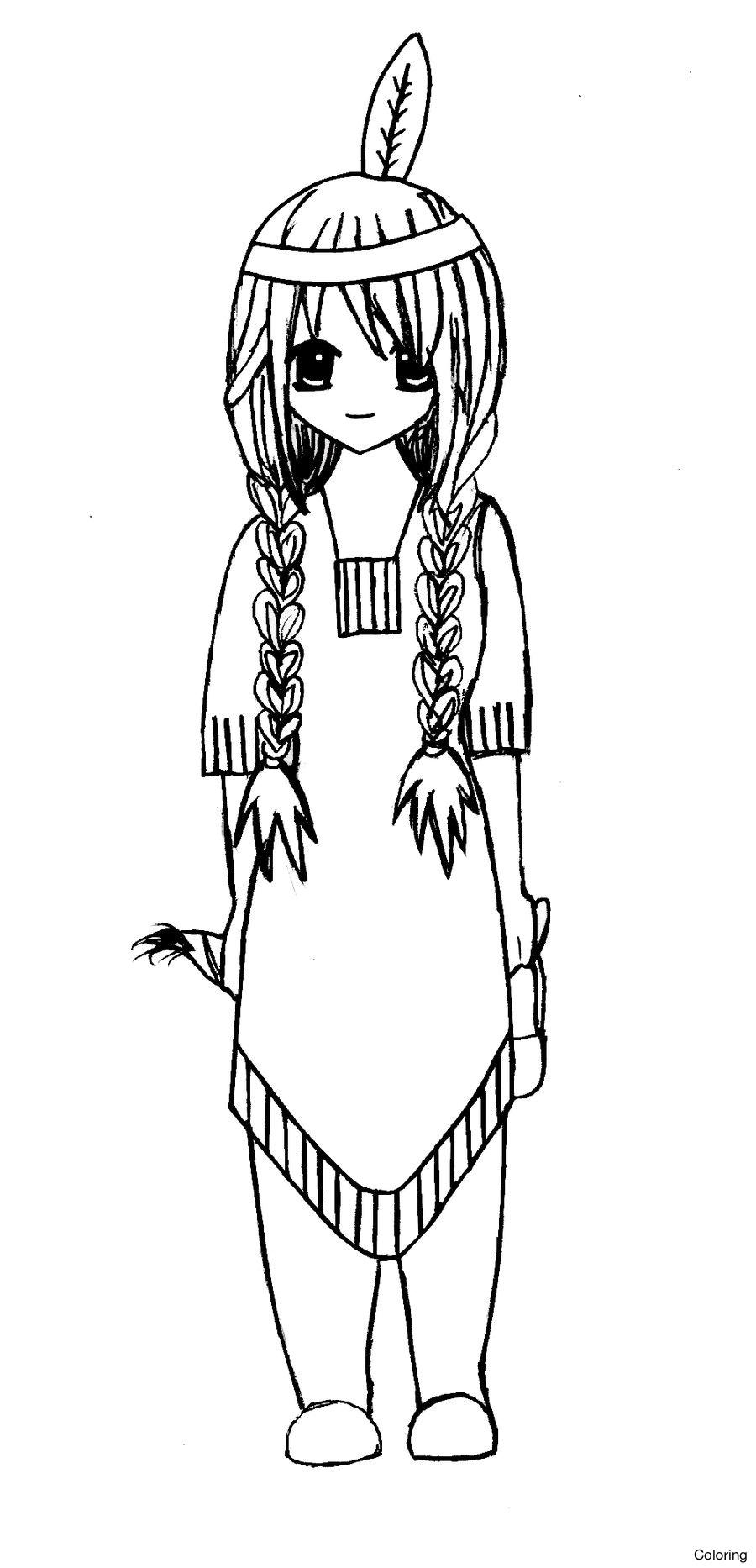 Native American Girl Drawing at GetDrawings | Free download