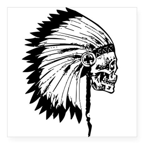 460x460 Indian Headdress Skull