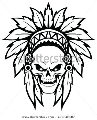 Native American Headdress Drawing At Getdrawings Com