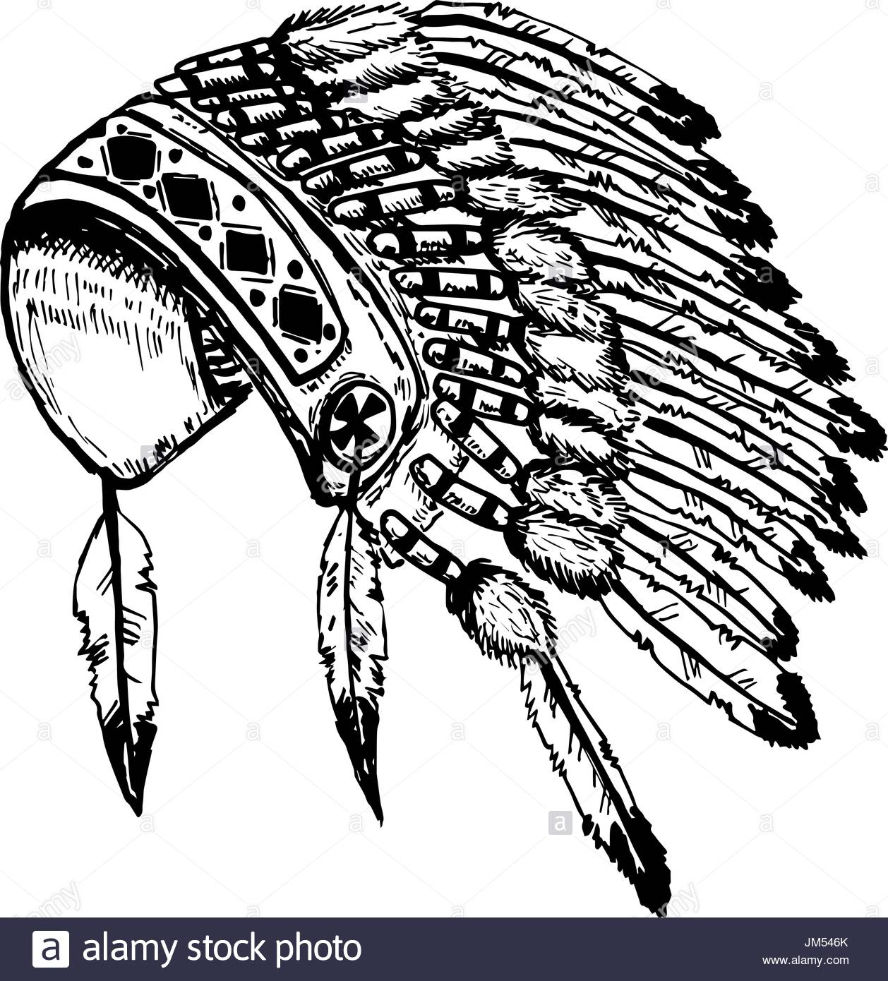 1258x1390 Native American Costume Stock Vector Images