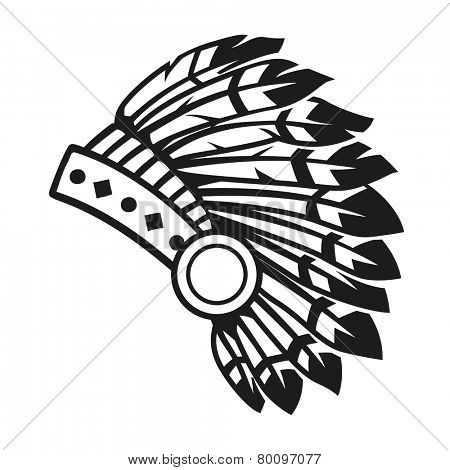 450x470 Native American Indian Headdress Vector Amp Photo Bigstock