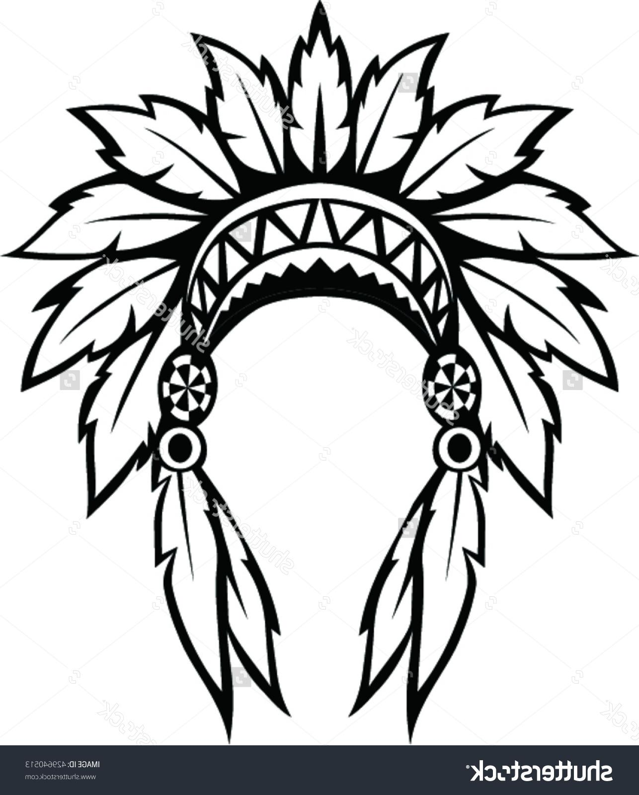 Native American Headdress Drawing at GetDrawings.com | Free for ...