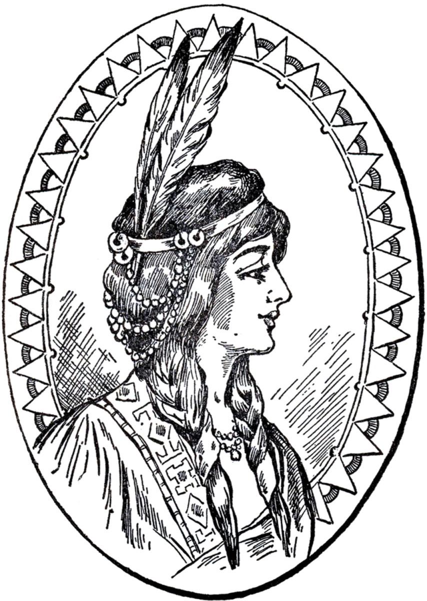 854x1200 Headdress Woman Clipart