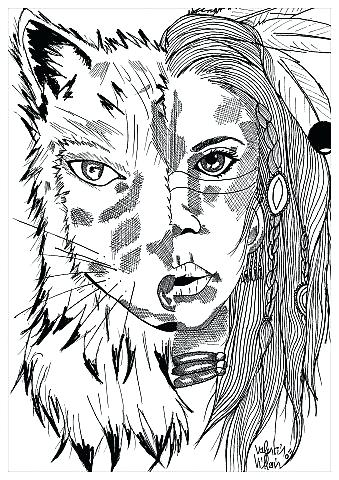 339x480 Native American Coloring Pages Free Native Warrior On Native Day