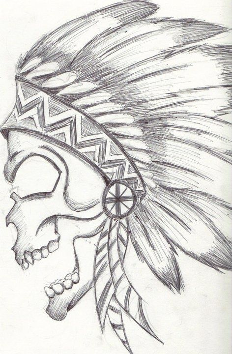 472x720 Native American Skull Drawing Skull Drawing Art Drawing Drawing