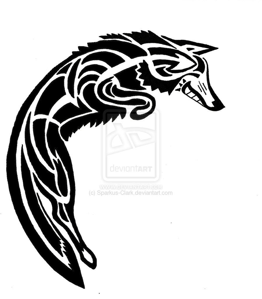 900x1024 Native American Coyote Symbol
