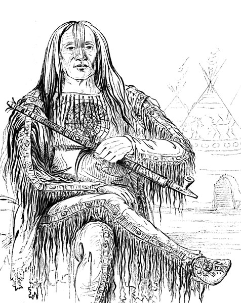 Native American Warrior Drawing