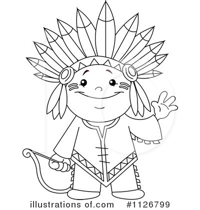 400x420 Free Native American Clipart Black And White