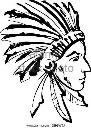 384x540 American Indian Warrior Black White Black And White Stock Photos