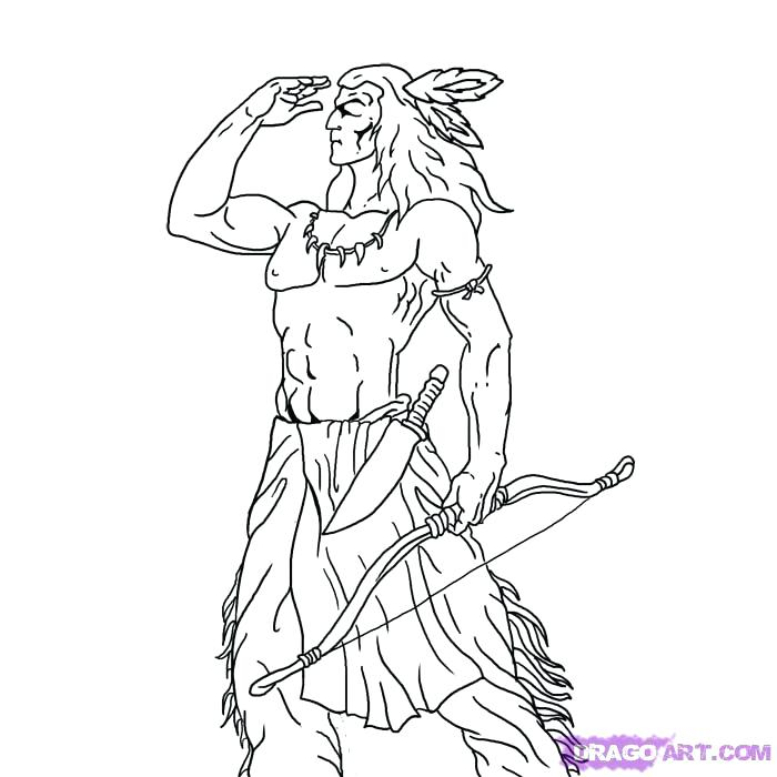 700x700 Native American Drawing How To Draw A Warrior Media