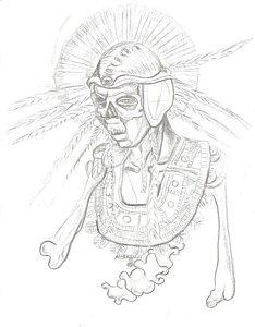 234x300 Native American Warrior Drawings