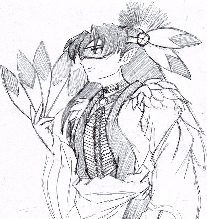 868x920 Thunder Bird Native Warrior By Dariusxii