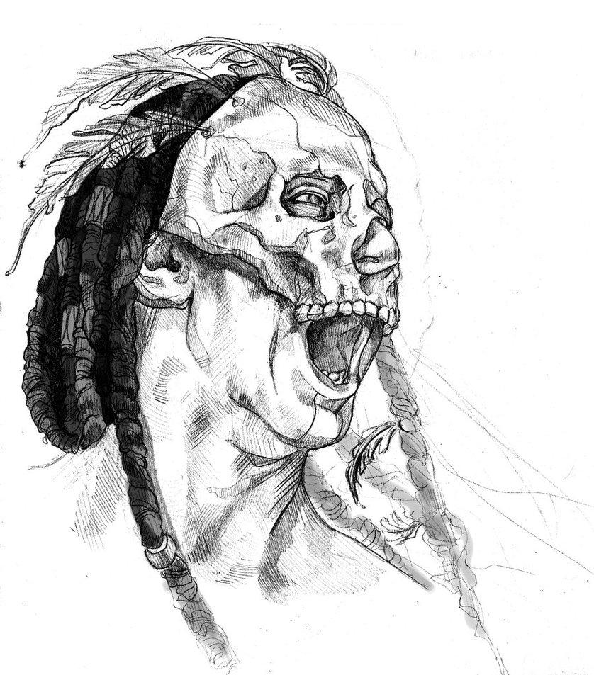 838x953 Warrior Head By Fresco Child