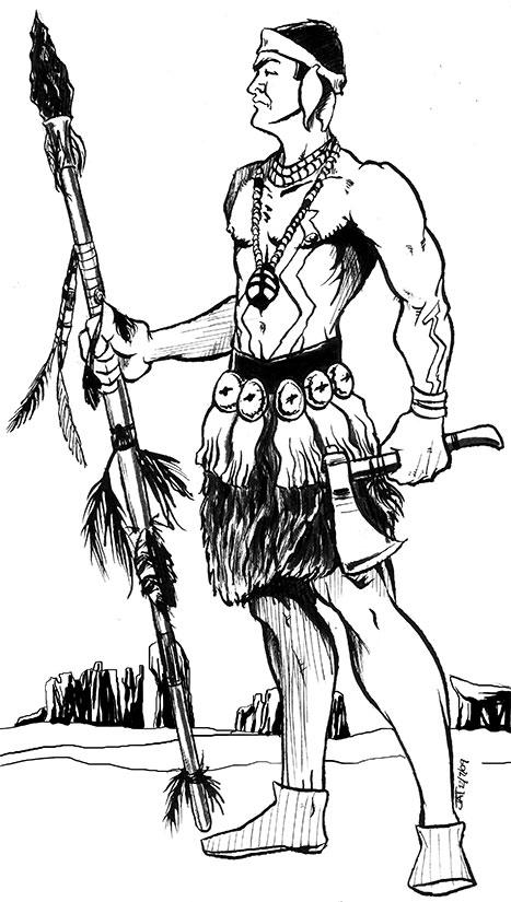 467x825 Character Sketch Navajo Warrior By Skyfitsjeff