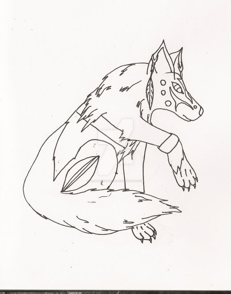 793x1008 Native American Wolf Sketch By Darthregina125