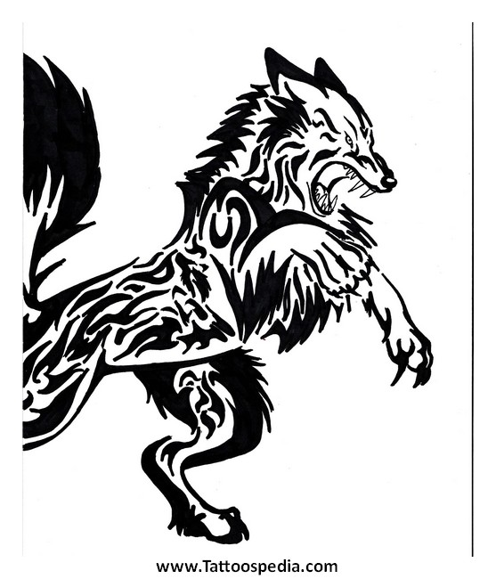 Native American Wolf Drawing At Getdrawings Free For Personal