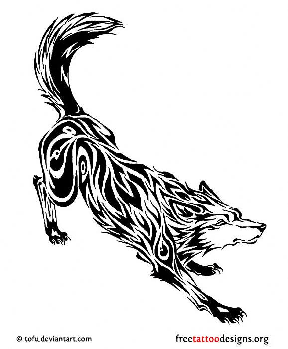 578x700 Native American Wolf Totem Tattoo