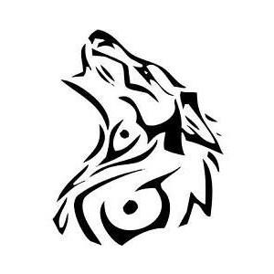 300x300 Native American Wolf Symbol