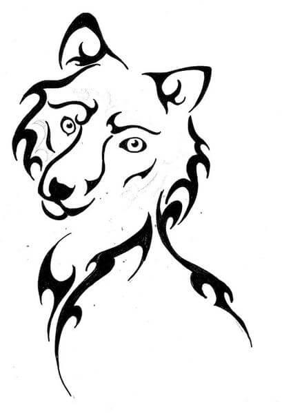 409x600 Wolf Tattoo Designs
