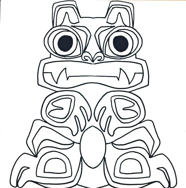 618x625 Totem Pole Coloring Pictures Joandco.co