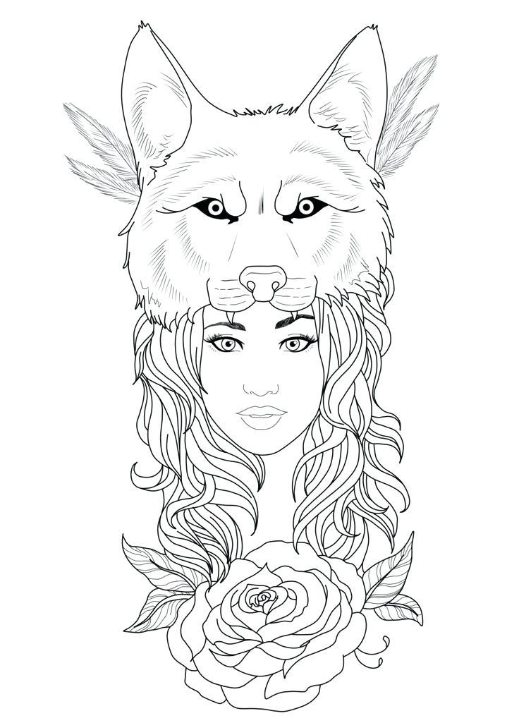 736x1025 Wolf Indian Headdress Native Girl With Wolf Headdress Media