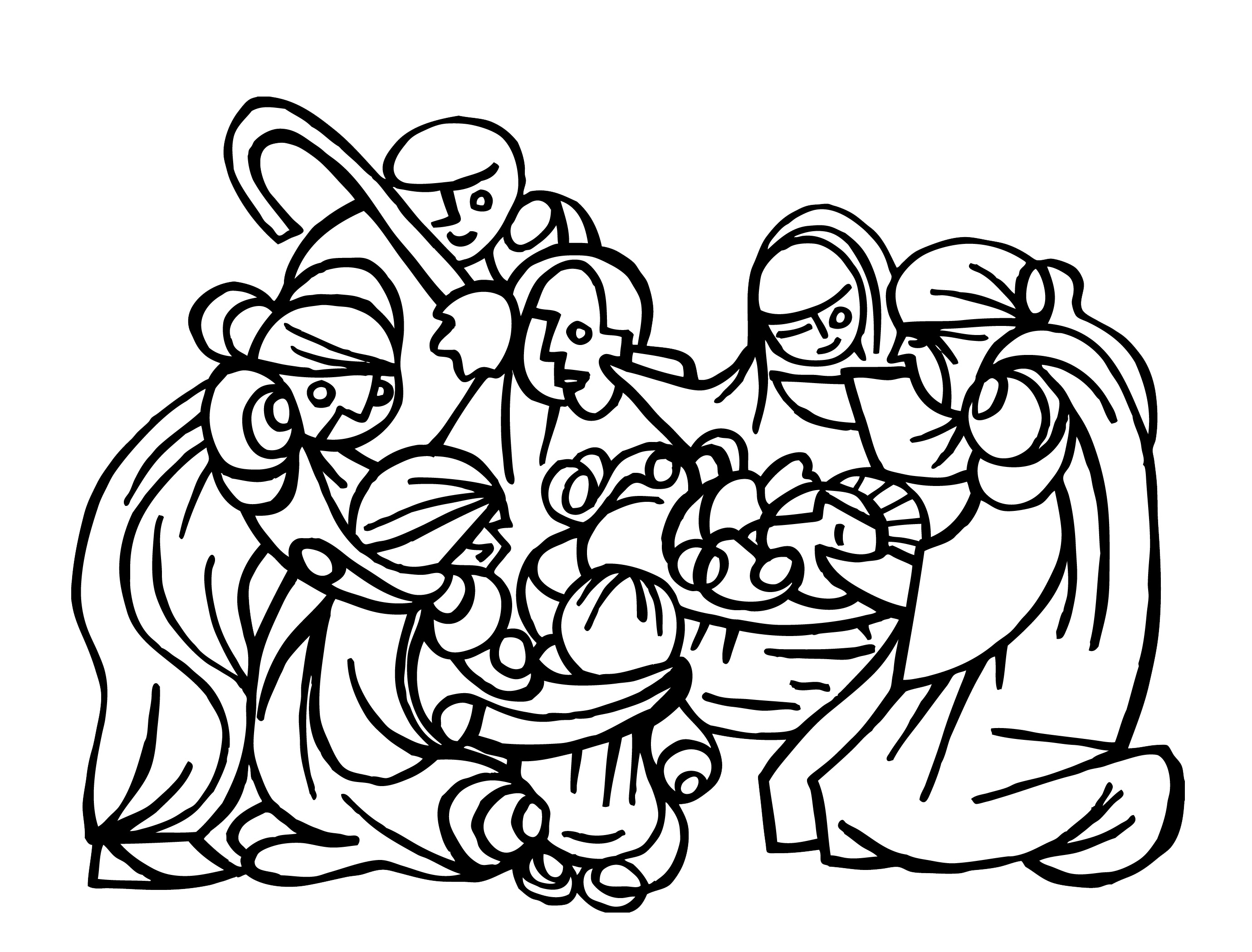 2760x2100 Drawing, The Nativity Revisited Ryan Seslow Art Amp Design