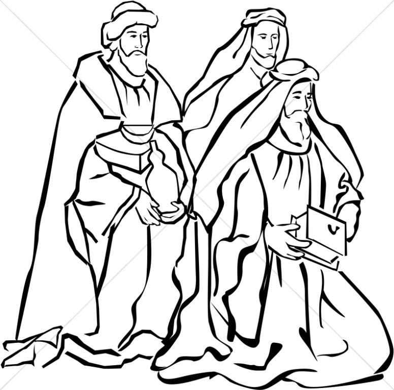 776x769 Nativity Magi Nativity Clipart