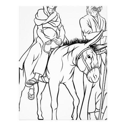 422x422 Nativity Mary And Joseph Christmas Illustration Letterhead