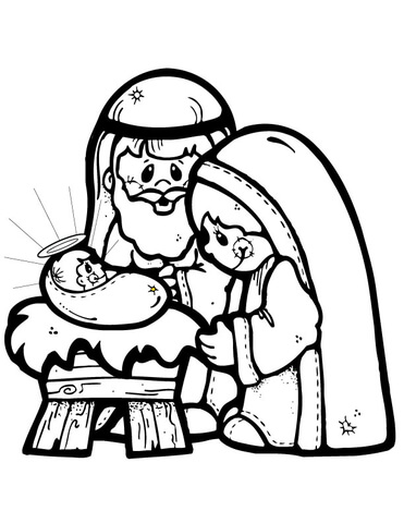371x480 Nativity Scene Coloring Page Free Printable Coloring Pages