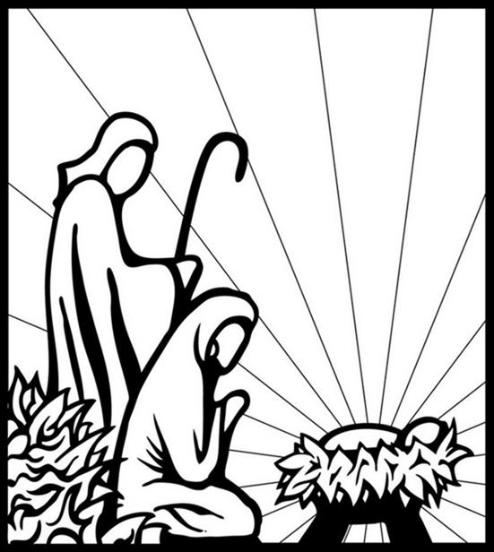 551x616 The Nativity Of Jesus, Told Through Graphic Design