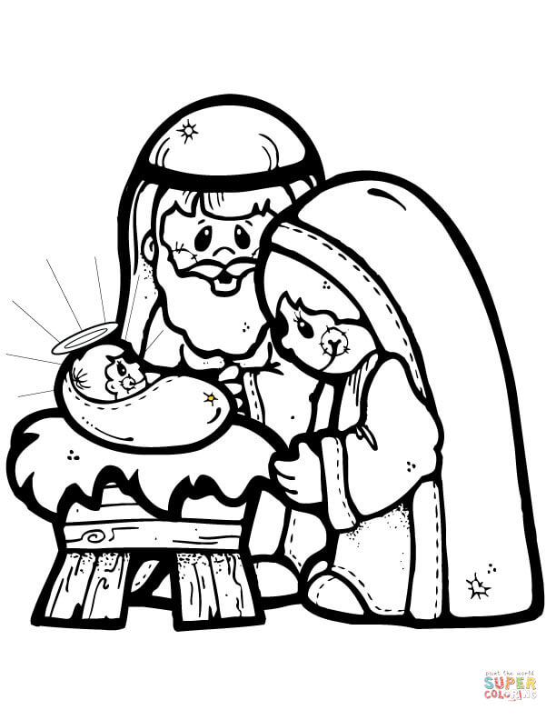 612x792 Nativity Scene Coloring Page Free Printable Pages