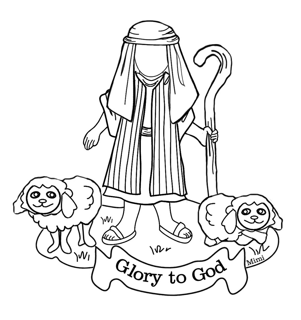 free christmas coloring pages manger shepherds wiseman | Nativity Drawing For Kids at GetDrawings.com | Free for ...