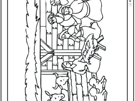 440x330 Christmas Nativity Coloring Pages Nativity Coloring Page Stable