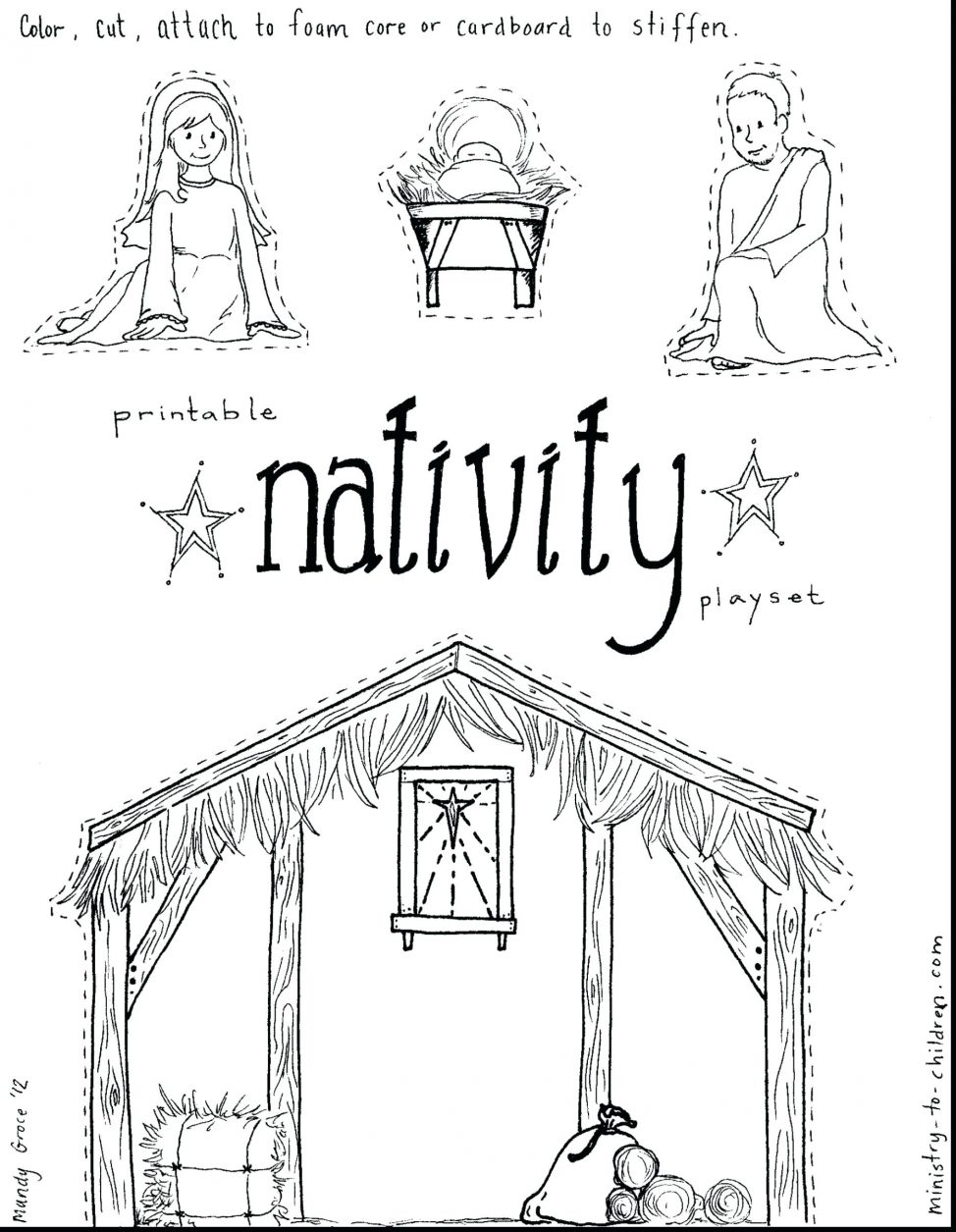 974x1255 Coloring Pages Printable Manger Scene Coloring Pages Nativity